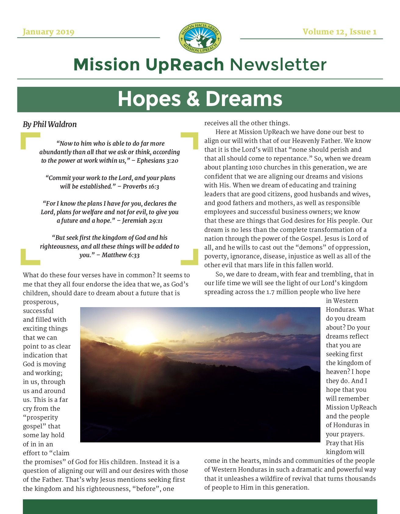 Newsletter Archive - Mission Upreach